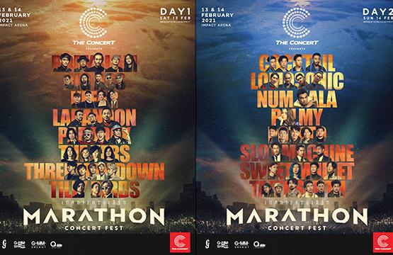 """""""MARATHON CONCERT FEST""""  เทศกาลคอนเสิร์ตที่รวม 16 คอนเสิร์ตไว้บนเวทีเดียว ยาวต่อเนื่อง 2 วันเต็ม!"""