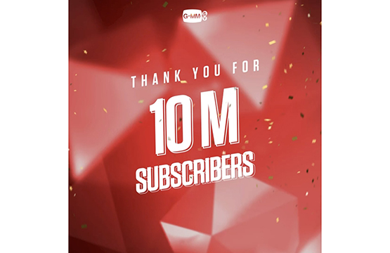 """GMMTV"" มาแรงเกินต้าน!!!  ยอดผู้ติดตามใน YouTube พุ่งทะลุ 10 ล้านคน"