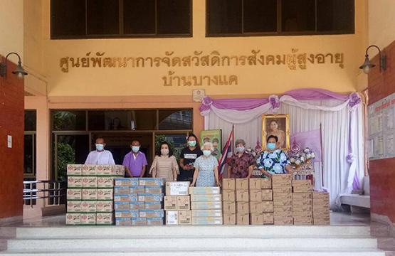 """""""วันสร้างสุข  สู้โควิด ช่วยชุมชน"""" จัดสรรเงินบริจาค มอบทุนให้ """"ร้านค้า"""" ทำอาหารกล่อง  ส่งต่อคนในชุมชนที่เดือดร้อน"""