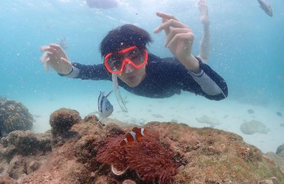 """""""ออฟ-เต-อาร์ม"""" ส่งท้ายทริปความสุข!!! ท่องโลกใต้น้ำที่แสมสาร  ในรายการ """"เฟรนด์ขับ Presented by NISSAN ALMERA"""""""
